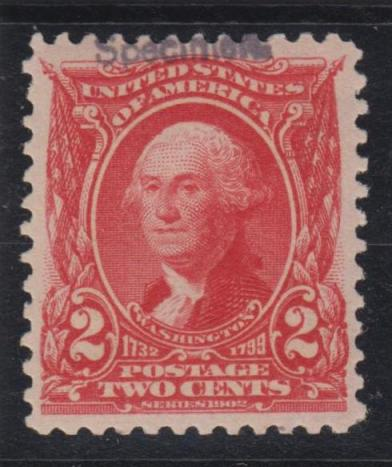 The 1903 Two Cent Shield Washington Specimen Us Specimen Stamps